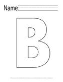 Letter 'B' Pre-K Packet