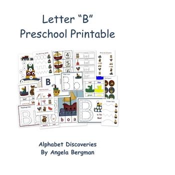 Letter B ~ Preschool Unit