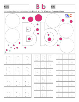 FREE Letter Bb Printing and Picture Find Worksheets