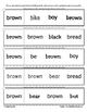 Letter B Reading Discrimination Strips for Fluency and Letter Recognition