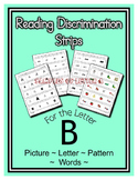 Letter B Reading Discrimination Strips for Fluency and Let