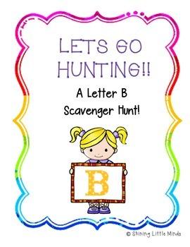 Letter B Scavenger Hunt