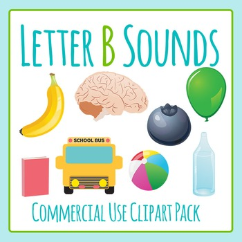Letter B Sounds Clip Art Pack for Commercial Use