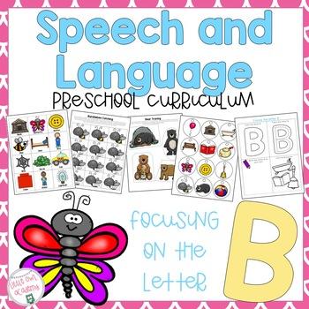 Letter B Speech and Language Preschool Curriculum