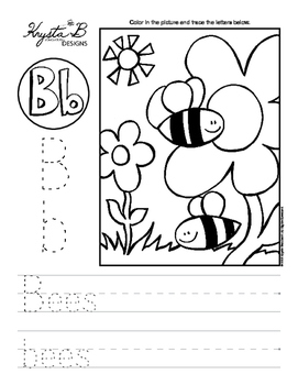Letter B Trace and Write Worksheet Pack