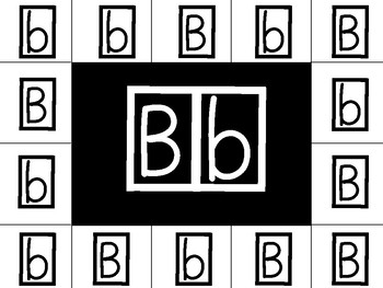 Letter B Uppercase and lowercase fine motor match