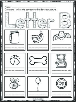 Letter B Vocabulary Cards