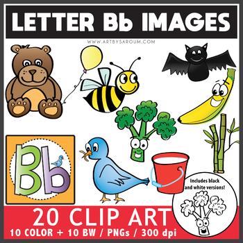 Letter B Words Clip Art Set