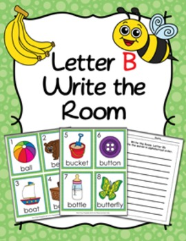 Letter B Words Write the Room Activity