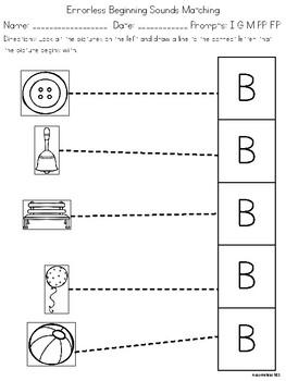Letter B Worksheet Packet