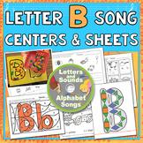 Letter B Song & Worksheet Set