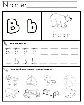 Letter B Worksheets! by Kindergarten Swag | Teachers Pay ...