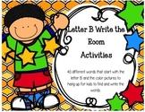 Letter B Write the Room