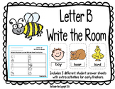 Letter B Write the Room- Includes 3 levels of answer sheets