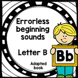 Letter B adapted book errorless learning