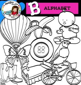 Letter B clip art set