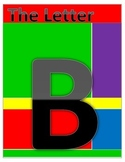 Letter B coloring and worksheets using Dolch noun list words