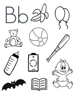 Letter B Coloring Page Worksheets Teaching Resources Tpt