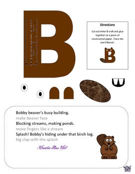 Letter B cutout craft