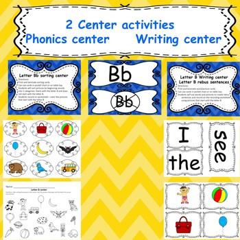 Letter B Emergent readers/ centers/ worksheets