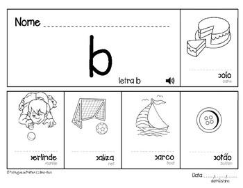 Letter B in Portuguese - Letra B