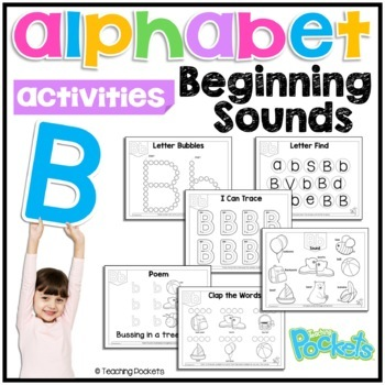 Letter B phonics letter of the week toddlers preschool activity pack
