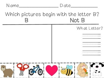 Letter B with Differentiation- Read the Room, I Spy, Spin and Color, and More!