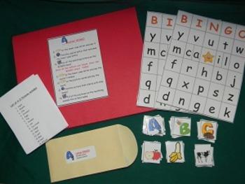 Letter BINGO literacy center classroom resource tool
