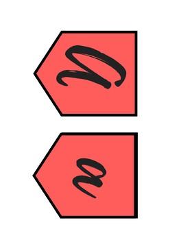 Letter Banner - Color Cursive