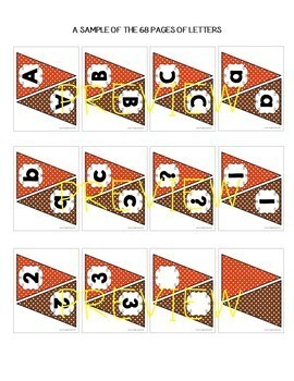 Letter Banners! Create a Variety of Your OWN Banners! (Orange and Brown)