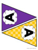 Letter Banners! Create a Variety of Your OWN Banners! (Purple and Gold)