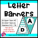Letter Banners! Create a Variety of Your OWN Banners! (Turquoise)