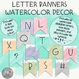 Letter Banners-Watercolor Decor