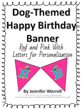 Letter Banners for Bulletin Boards or Decor--Doggie Themed