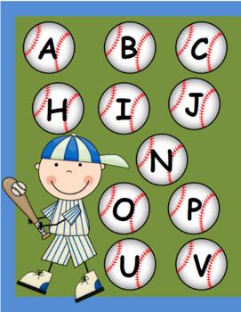 Letter Baseball Match