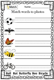 Letter Bb Vocabulary Worksheets
