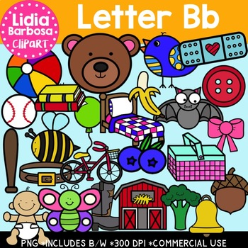 Letter Bb Digital Clipart