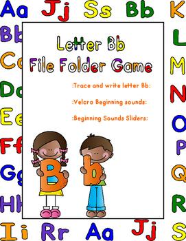 Letter Bb File Folder Game