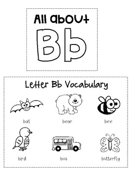 Letter Bb Interactive Notebook