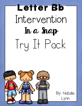 Letter Bb Intervention in a Snap Try It Pack