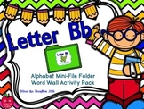 Letter Bb Mini-File Folder Word Wall Activity Pack