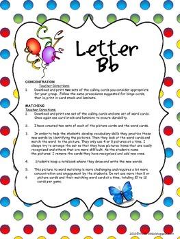 Letter B Bingo,