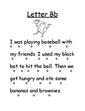 Letter Bb Reading Page