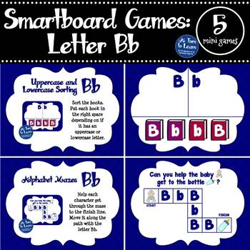 Letter Bb Smartboard Games (5 mini games) (Smartboard/Promethean Board)