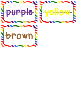 Letter Bead Cards - Color Words {FREEBIE}