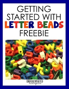 Letter Bead Starter Kit-Differentiated and Aligned to Common Core