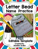 Letter Beads: Name Writing EDITABLE FREEBIE