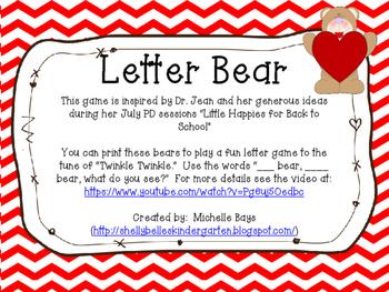 Letter Bear Freebie