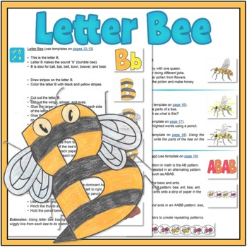 Letter Bee Lesson: Alphabet and Bee Activities {FreeBee Printables}