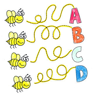 Letter Bee Mini-lesson: Alphabet and Bee Activities - US Version (Letter)